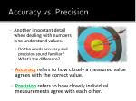 accuracy vs precision