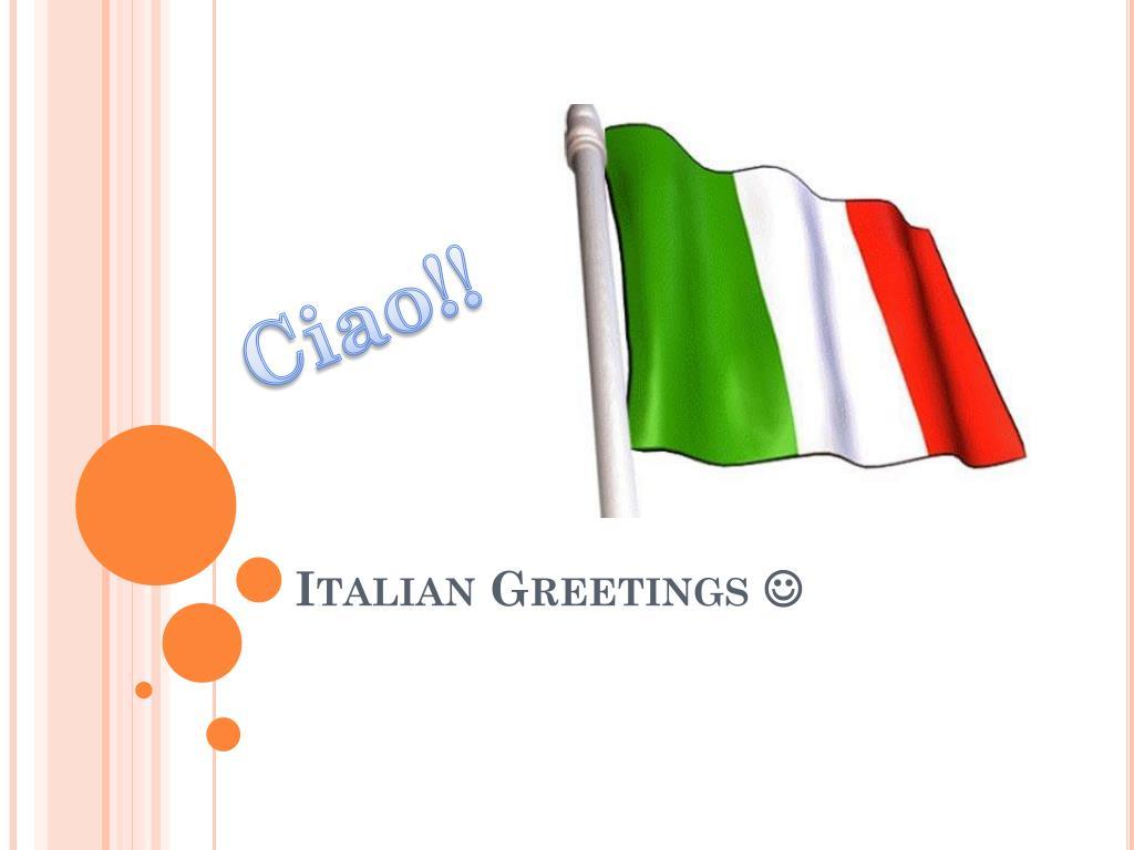 Ppt Italian Greetings Powerpoint Presentation Id2853862