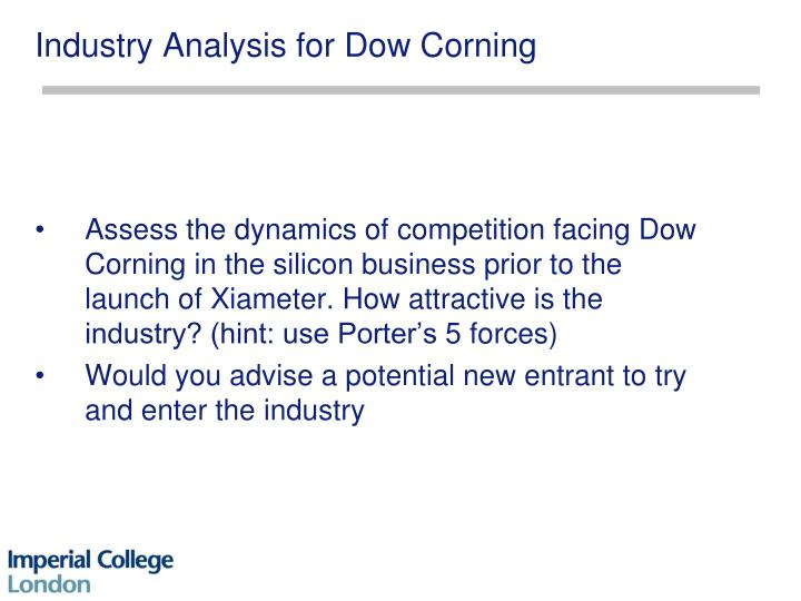 dow corning porter five analysis