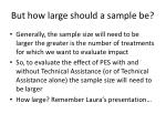 but how large should a sample be