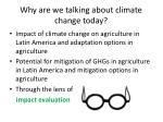 why are we talking about climate change today