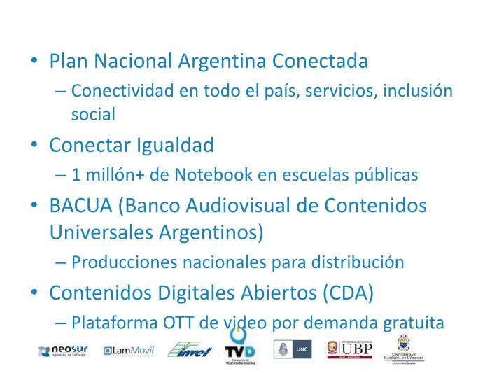 Plan Nacional Argentina Conectada