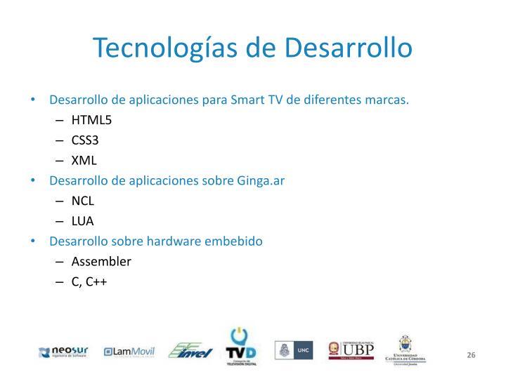 Tecnologías de Desarrollo