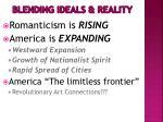 blending ideals reality