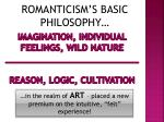 imagination individual feelings wild nature reason logic cultivation