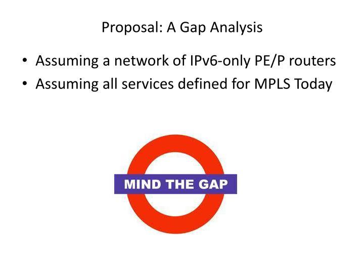 Proposal: A Gap Analysis