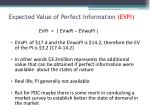 expected value of perfect information evpi
