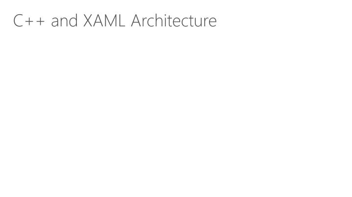 C++ and XAML Architecture