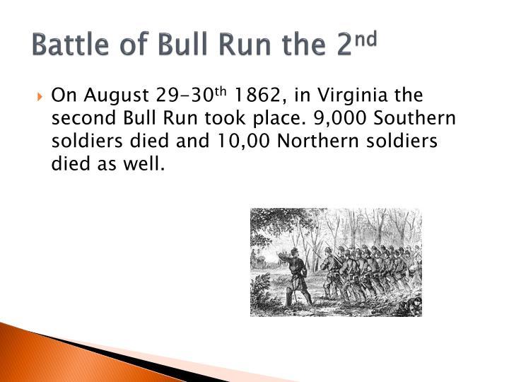 Battle of Bull Run the 2