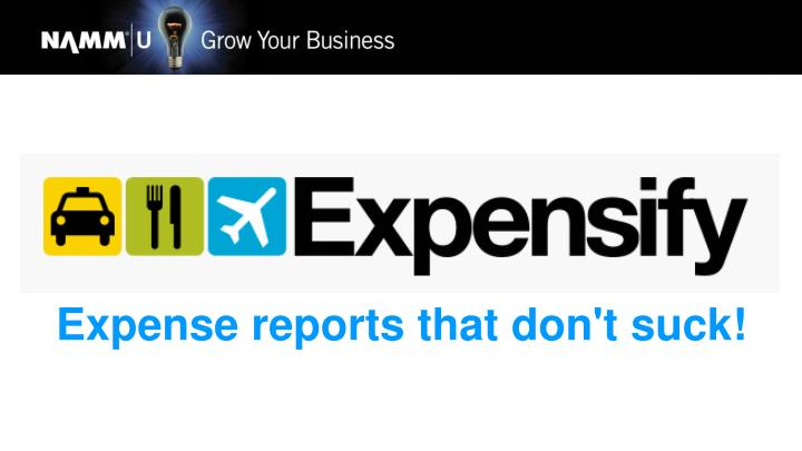 Expense reports that don't suck!