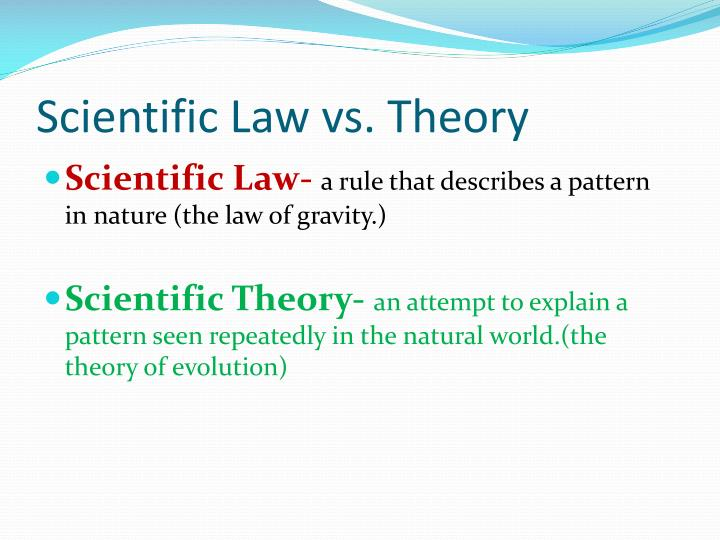 what is the difference between scientific law and theory