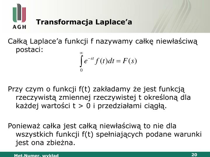 Transformacja Laplace'a
