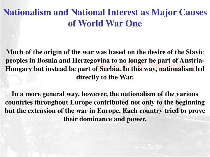 Nationalism and National Interest as