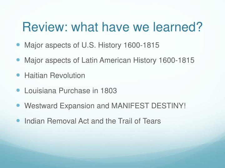 Review what have we learned