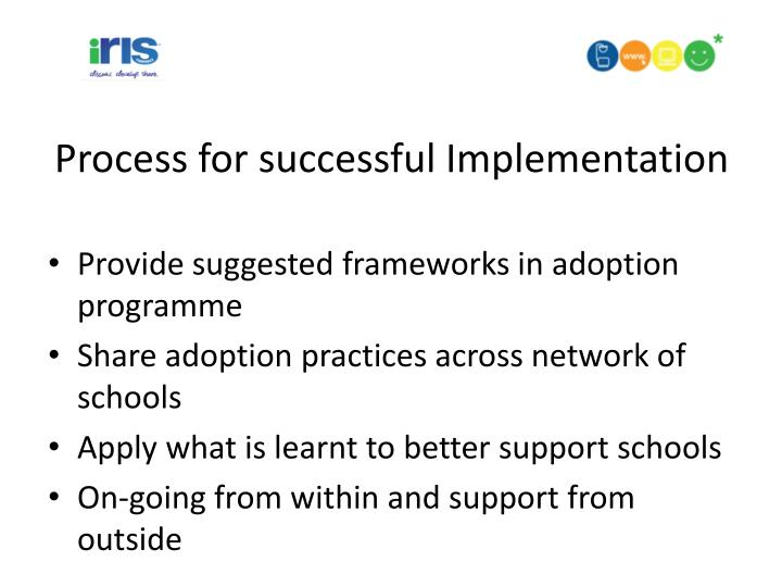 Process for successful Implementation