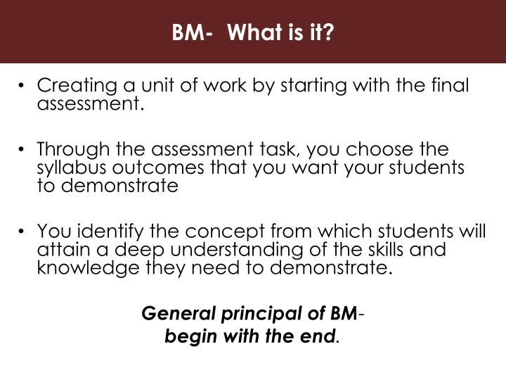 BM-  What is it?