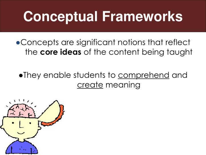 Conceptual frameworks