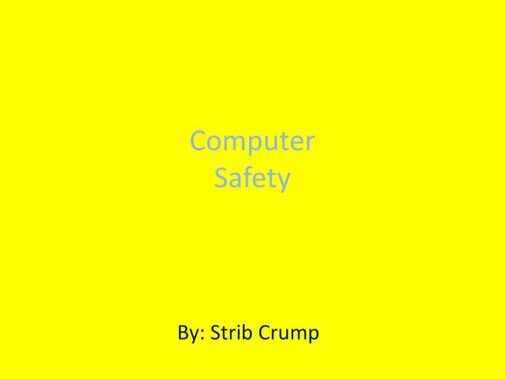 computer safety n.