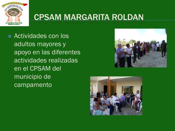 CPSAM MARGARITA ROLDAN
