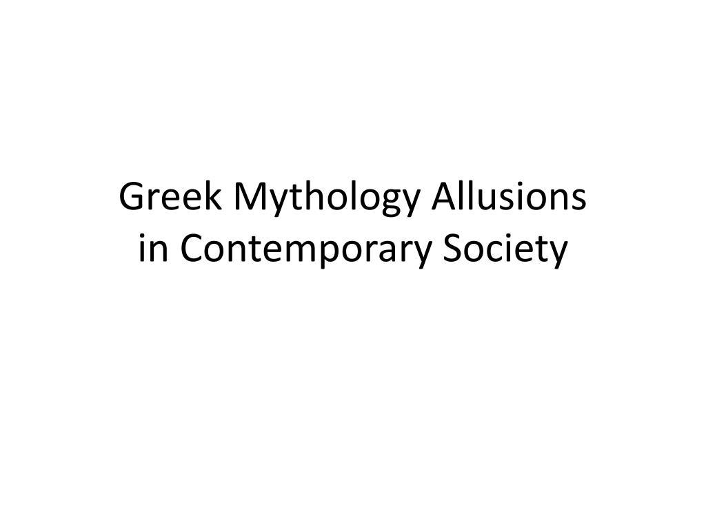 greek allusions