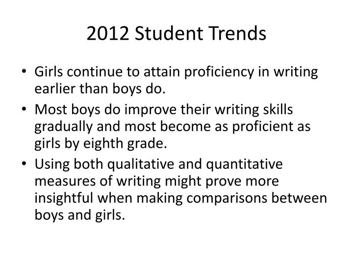 2012 Student Trends