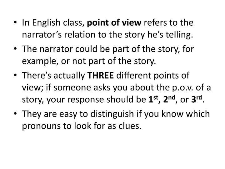 In English class,