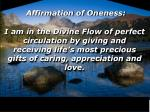 affirmation of oneness