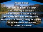 peace song