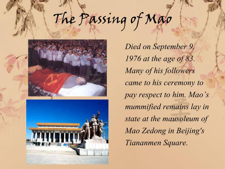 The Passing of Mao