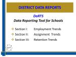 district data reports