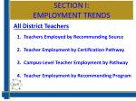 section i employment trends