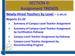 section ii assignment trends4