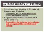 wilmot proviso 1846