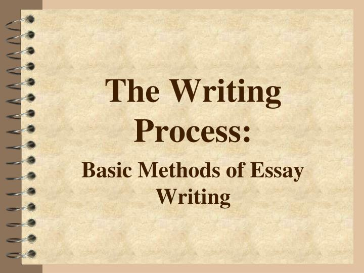 the writing process basic methods of essay writing n.