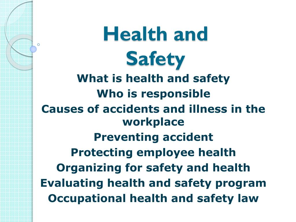 Ppt Health And Safety Powerpoint Presentation Free Download Id 2856117