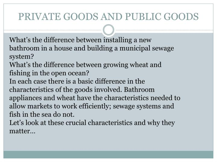 private goods and public goods n.