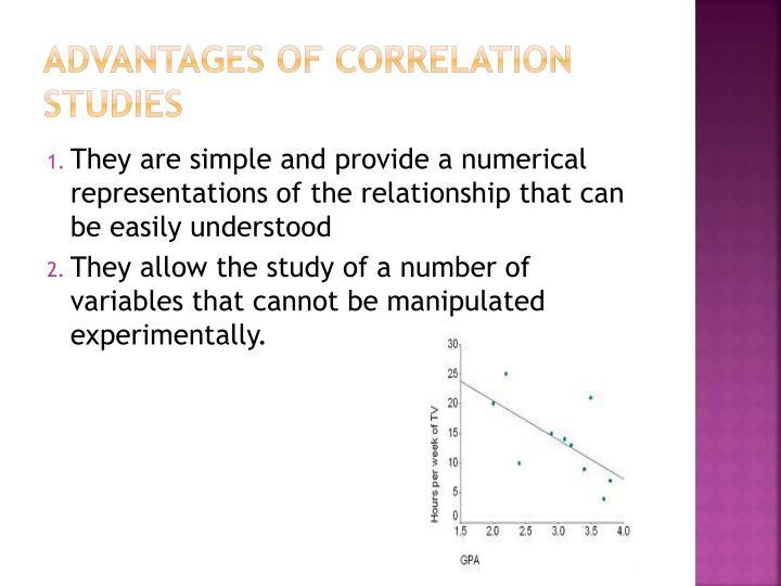 Advantages of Correlation Studies
