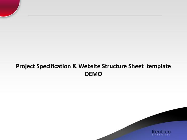Project Specification & Website Structure Sheet  template