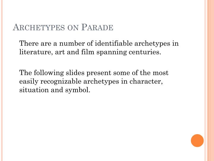 archetypes on parade n.