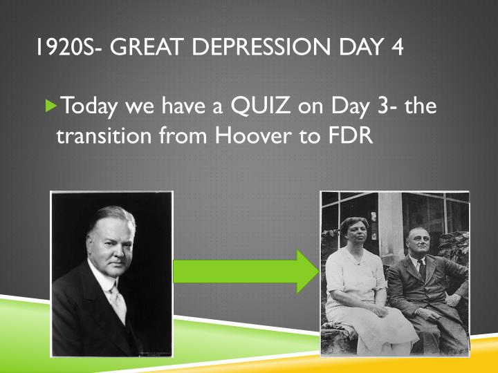 how president hoover handled the great depression of america in the 1920s Hoover vs roosevelt great depression election the great depression - hoover vs fdr: the election as well as assistant secretary of the navy under president.