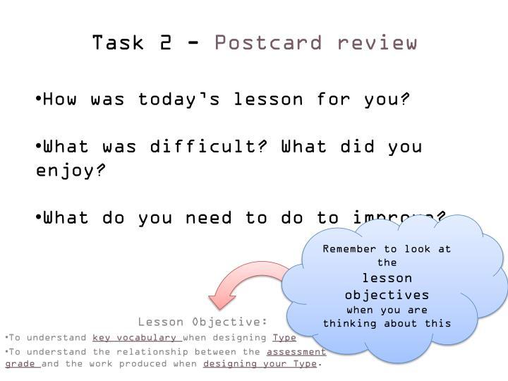 Task 2 -