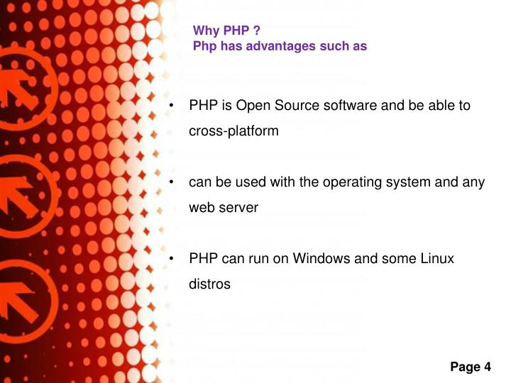 Why PHP ?