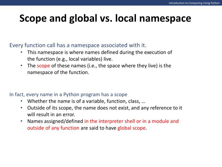 global and local variables in python