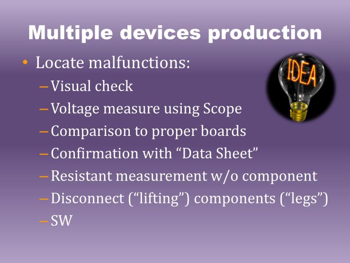 Multiple devices production