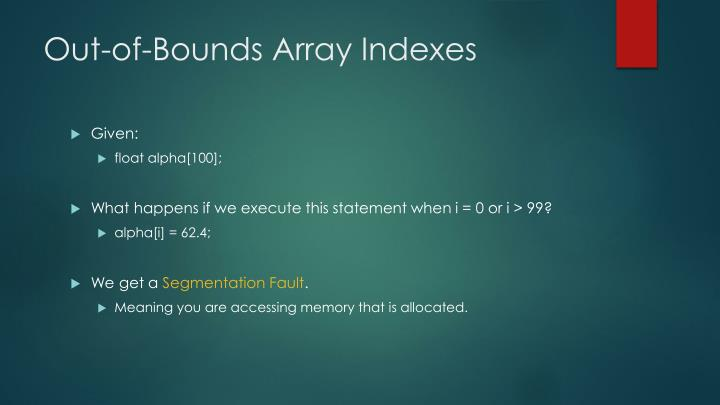 Out-of-Bounds Array Indexes