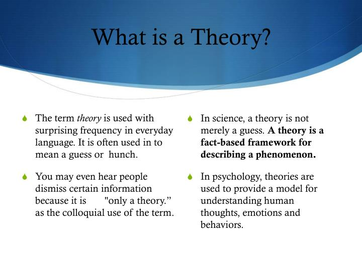 What is a theory