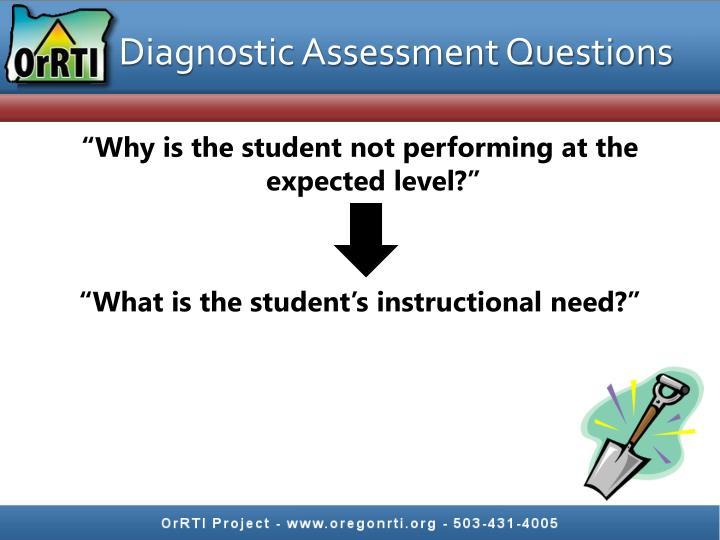 Diagnostic Assessment Questions
