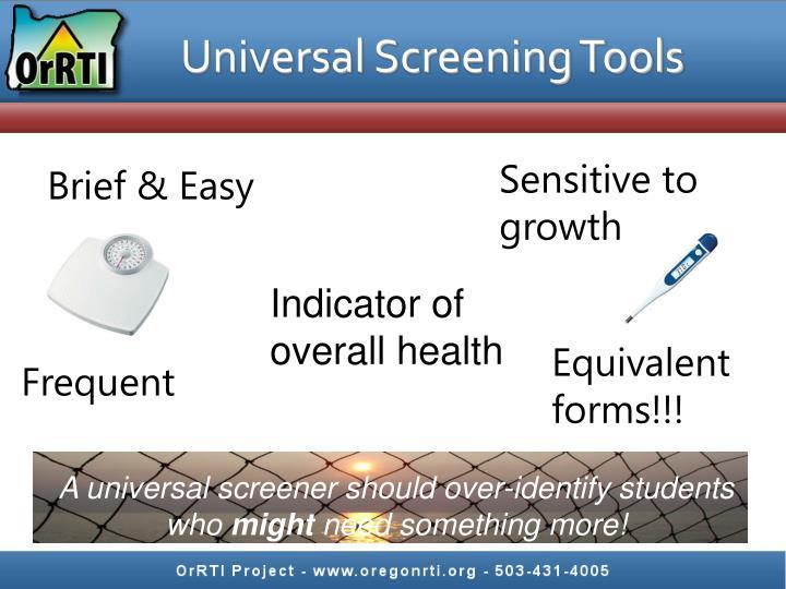 Universal Screening Tools