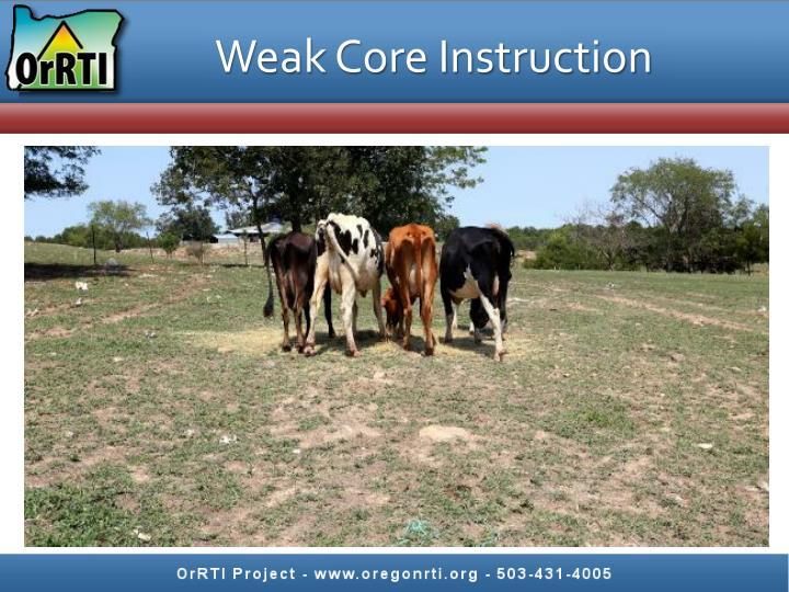 Weak Core Instruction