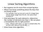 linear sorting algorithms